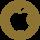 social_apple_Gold